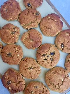 Coconut & peanut butter cookies
